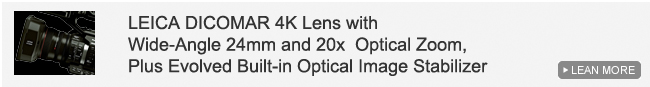 LEICA DICOMAR 4K Lens with Wide-Angle 24mm and 20x  Optical Zoom, Plus Evolved Built-in Optical Image Stabilizer