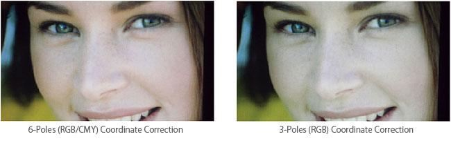 6-Poles (RGB/CMY) Coordinate Correction / 3-Poles (RGB) Coordinate Correction