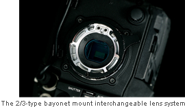 The 2/3-type bayonet mount interchangeable lens system