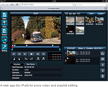 A web app (for iPad) for proxy video and playlist editing