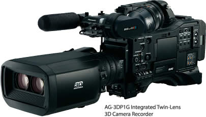 AG-3DP1G Integrated Twin-Lens 3D Camera Recorder