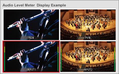 Audio Level Meter Display Example