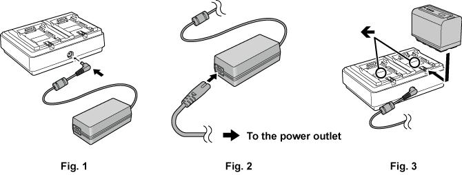 Charging the battery | Operating Instructions AU-EVA1