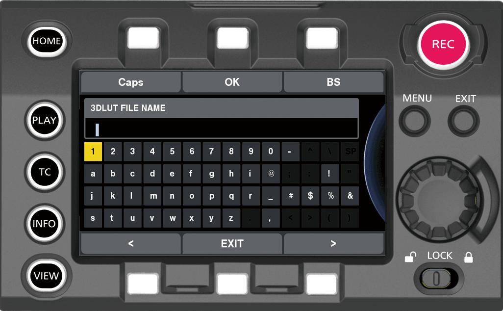 3D LUT] setting | Operating Guide VariCam LT | Panasonic